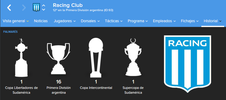 Trofeos.