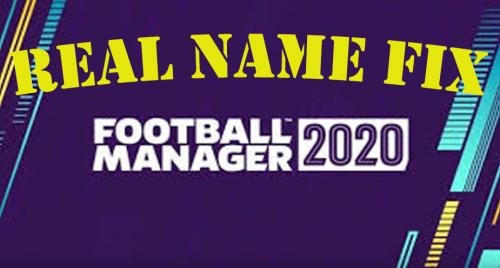 Real Name Fix FM20 - Licencias