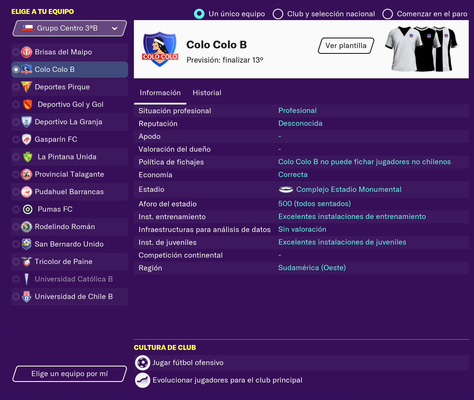Parche Liga Chilena Fantasy