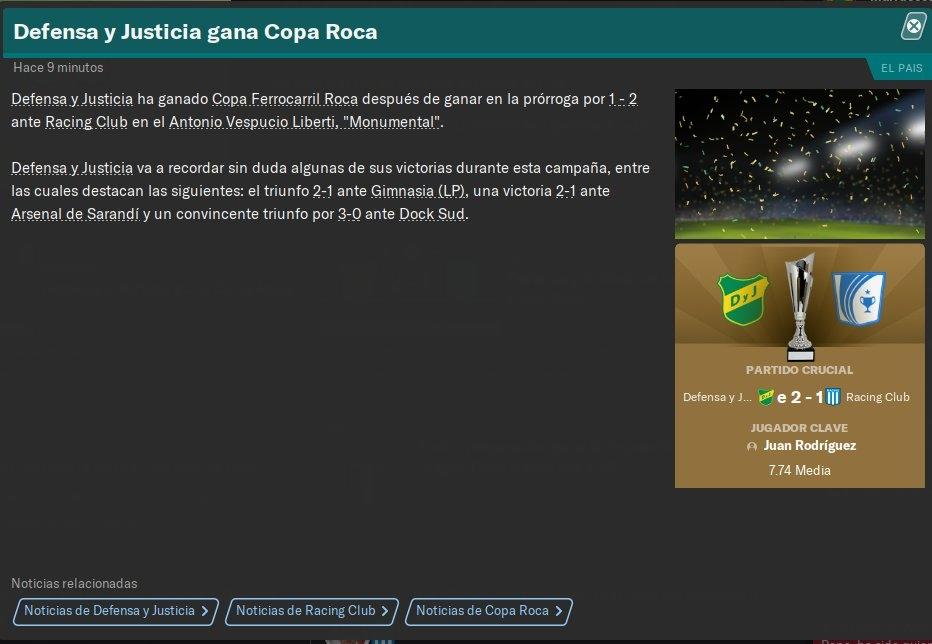 Argentina - Copa Ferrocarril Roca