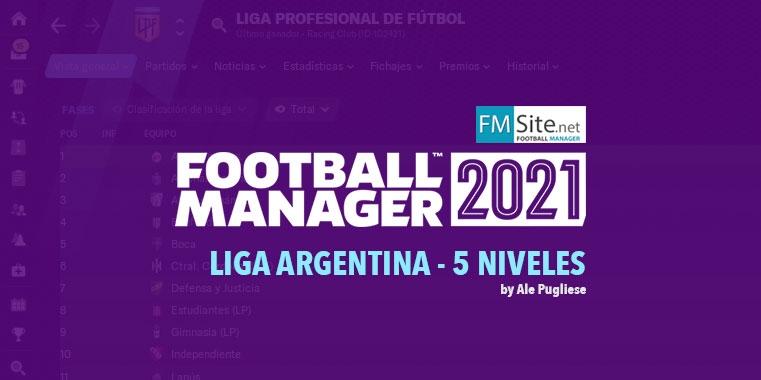 Sistema de Ligas - Argentina (5 Niveles)