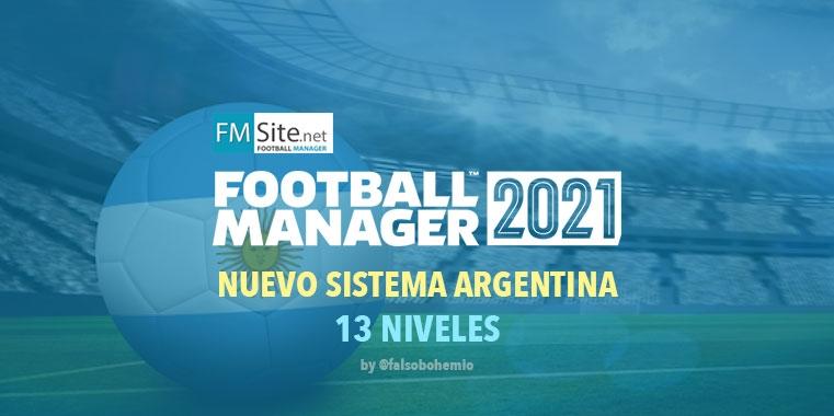 Nuevo Sistema en Argentina (13 Divisiones y 3704 equipos)