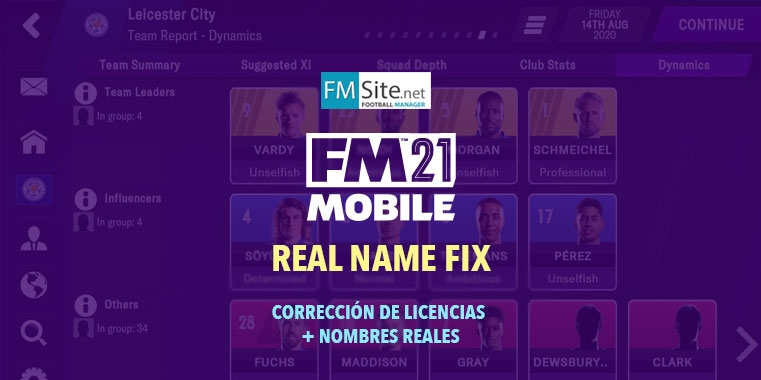FM21 Mobile Real Names License Fixes