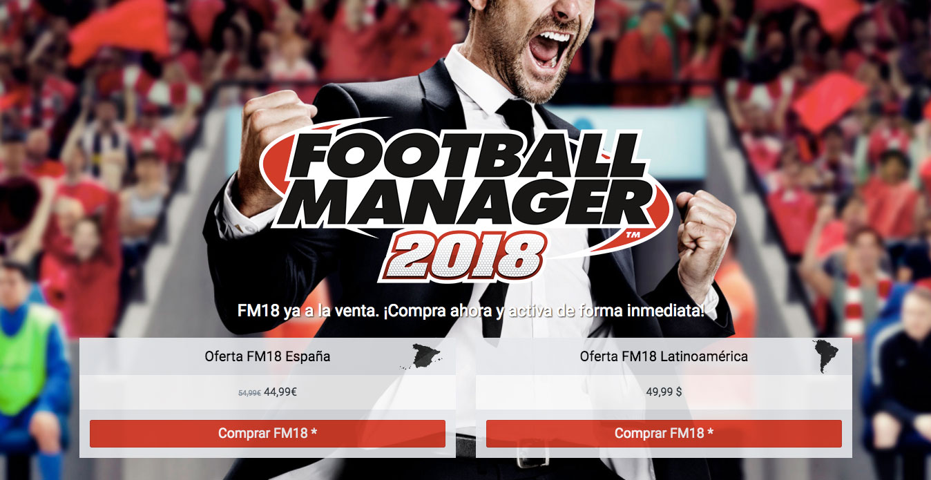 Comprar Football Manager 2018