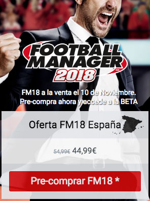 Oferta Football Manager 2018 Comprar