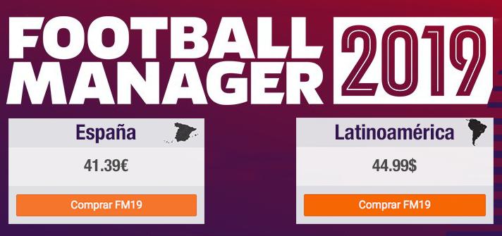 Comprar Football Manager 2019