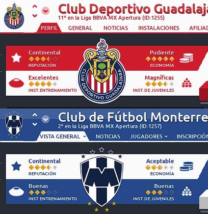Actualización Escudos Liga BBVA MX
