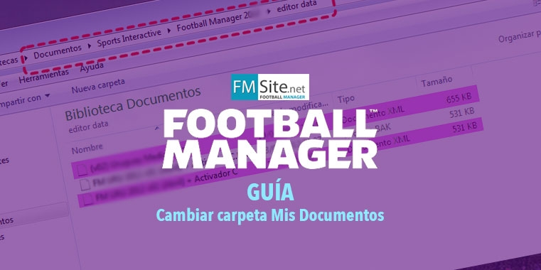 Cómo cambiar la carpeta de datos del Football Manager