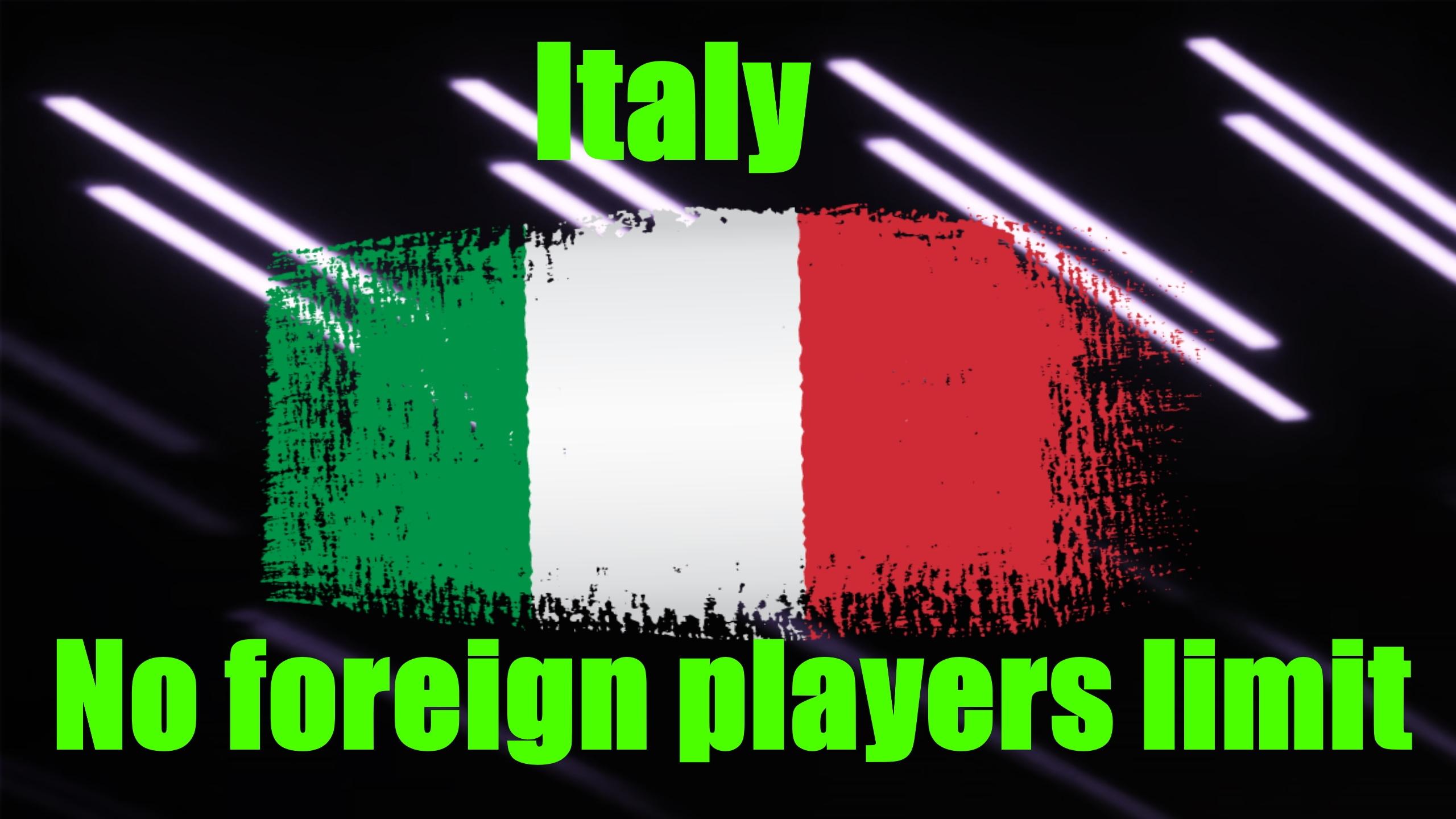 Italia sin reglas de extraneros 21.4